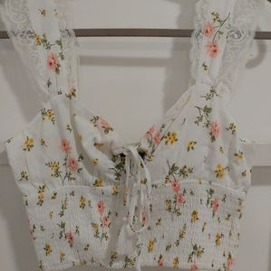 Forever 21 Cropped Floral Tank